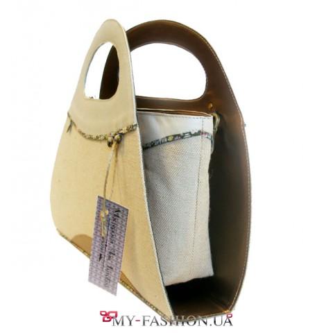 Элегантная сумка-трансформер со съемным клатчем