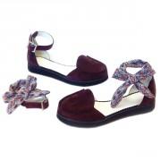 Женские туфли-делёнки из замши