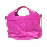 Дизайнерская сумка из ярко-розовой кожи