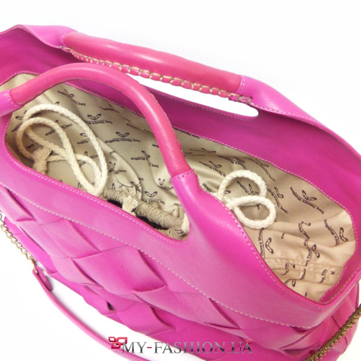 31b49837aa46 Дизайнерская сумка из ярко-розовой кожи купить в интернет магазине в ...
