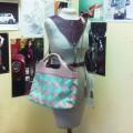 Комбинированная женская кожаная сумка
