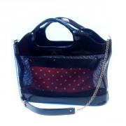 Чёрная женская сумка из лаковой кожи