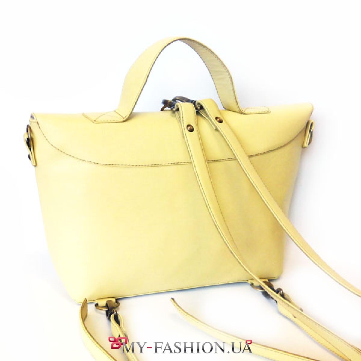 7739a5919bb1 Женская сумка-портфель лимонного цвета купить в интернет магазине в ...