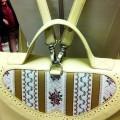 Женская сумка-портфель лимонного цвета