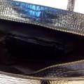 Сумка-портфель из натуральной кожи крокодила