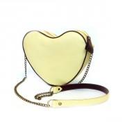 Необычная лимонная сумка в форме сердечка
