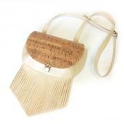 Кожаная сумка «кросс-боди» с бахромой