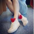 Дизайнерские кеды-кроссовки белого цвета