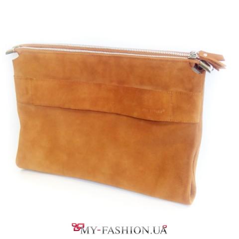 Необычная рыжая сумка-клатч