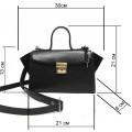Женская сумка из фактурной кожи и замша