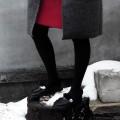 Зимние мокасины черного цвета с серебром