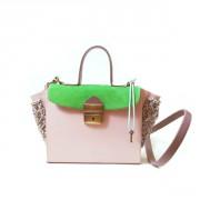 Сумка-портфель в стиле color block