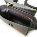 Стильная сумка-портфель из фактурной кожи-флотар