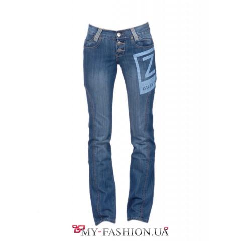 Женские джинсы с принтом