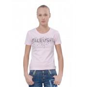 Розовая футболка для жаркого лета с точечным принтом