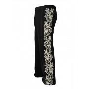 Вельветовые мужские брюки с серебрянной вышивкой