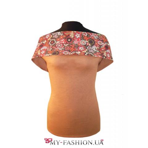 Блузка на две стороны трикотажная без размеров