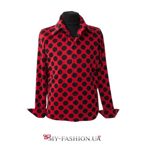 Красная блузка в горошек в самаре