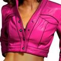 Кожаная куртка укороченной модели
