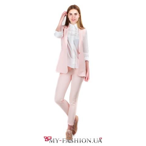 Блуза из белого шелка с нагрудный карманами