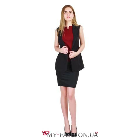 Красивая блуза из бордового креп-шифона