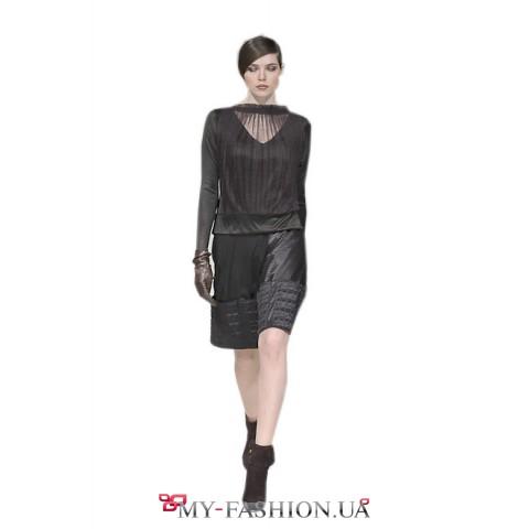 Черная прозрачная блузка доставка