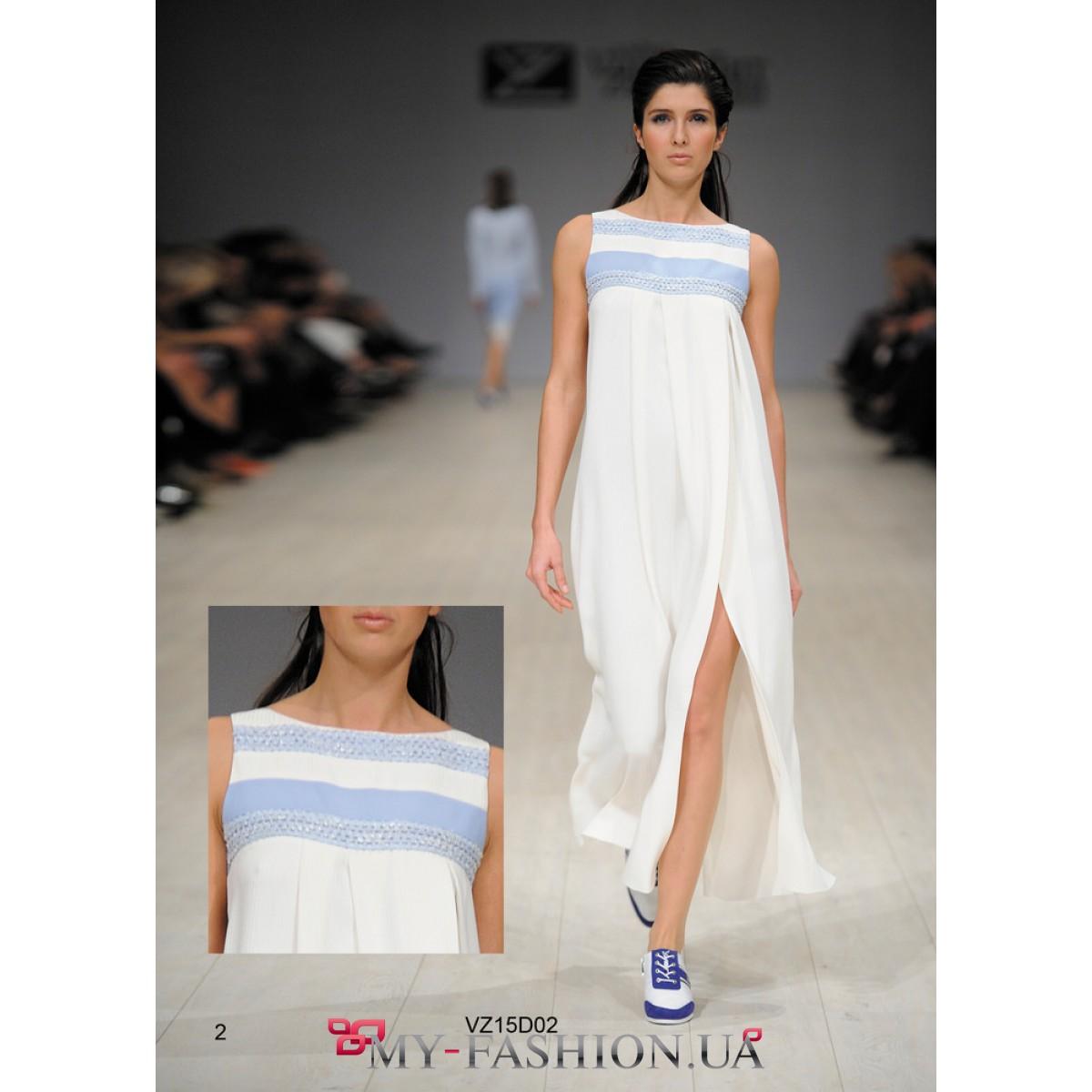 Шелковое платье белое купить