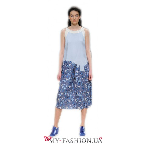 Имиджевое платье средней длины