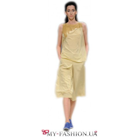Дизайнерская юбка-шорты с карманами