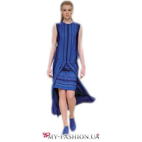 Дизайнерское платье из хлопкового трикотажа