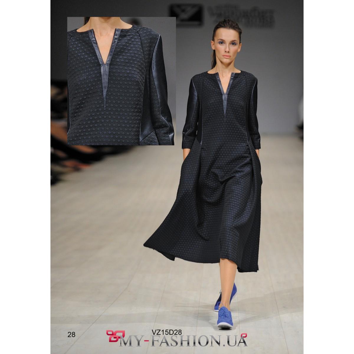 Купить черное платье свободного кроя