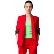 Красный жакет из костюмной шерсти