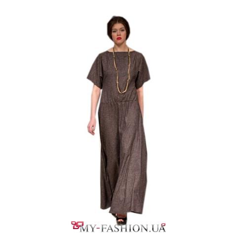 Длинное платье стиль крестьянки