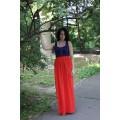 Длинная красная юбка из лёгкого шифона