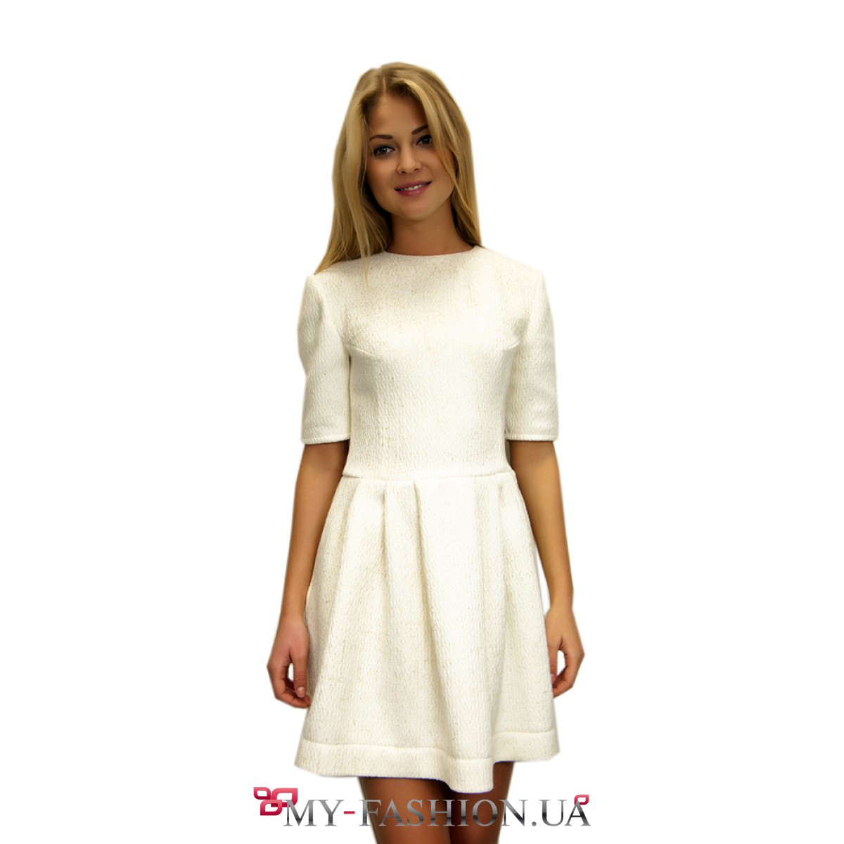 Платье из жаккарда короткое