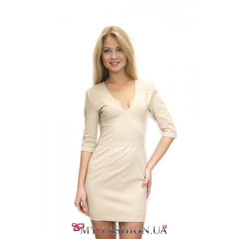 Красивое короткое платье из трикотажа