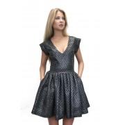 Короткое платье с принтом в горошек