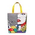 Комбинированная женская сумка с принтом