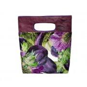 Велюровая женская сумка с авторским принтом