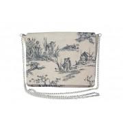 Монохромная сумка-клатч из телячьей кожи