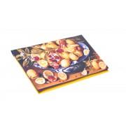 Сумка-клатч с принтом фруктов из хлопка и габардина
